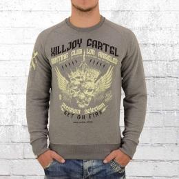 Yakuza Premium Herren Sweatshirt Hunting Club LA grau melange