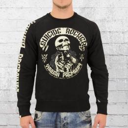 Yakuza Premium Herren Sweatshirt Suizide Rocker 2328B schwarz
