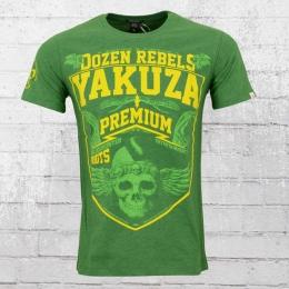 Yakuza Premium Herren T-Shirt Dozen Rebels grün