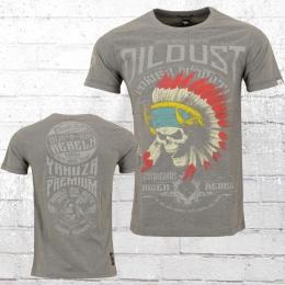 Yakuza Premium Herren T-Shirt Oil Dust grau