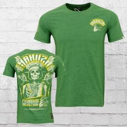 Yakuza Premium Herren T-Shirt Skull King grün
