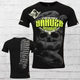Yakuza Premium Herren T-Shirt Skull Snake schwarz