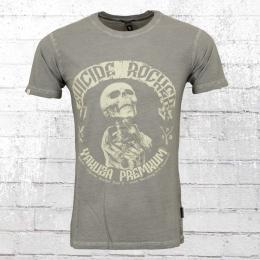 Yakuza Premium Herren T-Shirt Suizide Rocker vintage grau