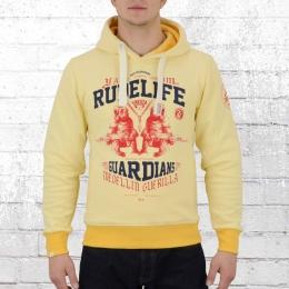 Yakuza Premium Männer Kapuzenpullover Rude Life 2223 gelb