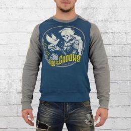 Yakuza Premium Männer Sweater Dove Skull blau