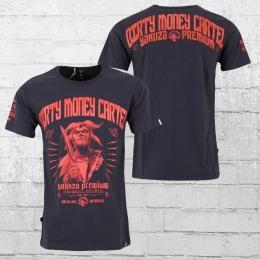 Yakuza Premium Männer T-Shirt Dirty Money Cartel grau