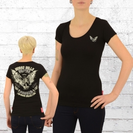 Yakuza Premium T-Shirt Frauen Worry Dolls 2333 schwarz