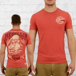 Yakuza Premium T-Shirt Herren Medellin 2211 rot melange