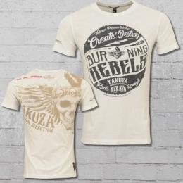 Yakuza Premium T-Shirt Herren Rebels weiss