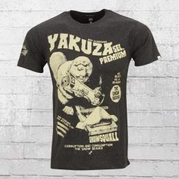 Yakuza Premium T-Shirt Herren Snow Beaver YPS 2209 grau