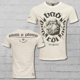 5a190983da0 Yakuza Premium Tee Mens Shirt Plata o Plomo YPS 2203 white