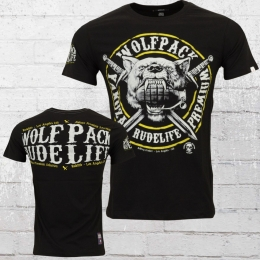 Yakuza Premium Wolfpack T-Shirt Herren schwarz