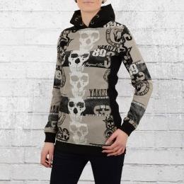 Yakuza Reel Flex Long Hoody Frauen Kapuzensweater schwarz