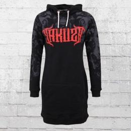 Yakuza Sweatshirt Kleid Rosas Y Muertos Long Hoody schwarz