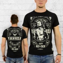 Yakuza T-Shirt Herren Mex Crew TSB 8021 schwarz