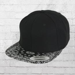 Yupoong by Flexfit Cap Bandana Snapback Kappe black black