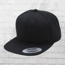 Yupoong Kinder Cap Classic Snapback Kappe schwarz
