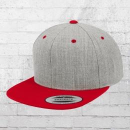 Yupoong by Flexfit Classic Snapback 2-Tone Cap grau meliert rot