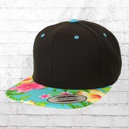 Yupoong by Flexfit Hawaiian Snapback Cap Schirmmütze schwarz türkis