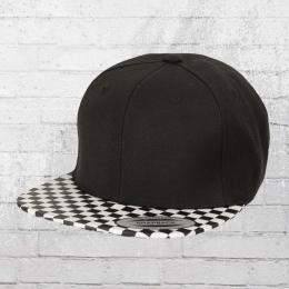 Yupoong Mütze Checkerboard Cap schwarz weiss karo