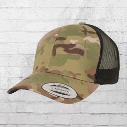 Yupoong Mütze Retro Trucker Multicam Cap khaki camouflage