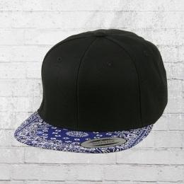 Yupoong by Flexfit Schildmütze Bandana Snapback Cap schwarz blau
