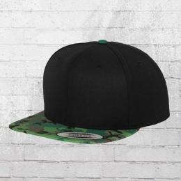 Yupoong Cap Classics Printed Snapback schwarz grün camouflage
