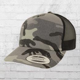 Yupoong Kappe Camo Trucker Cap schwarz grau