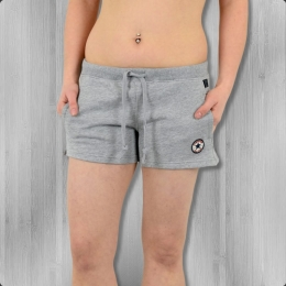 Converse Damen Hot Pants Core Sweat Shorts grau melange