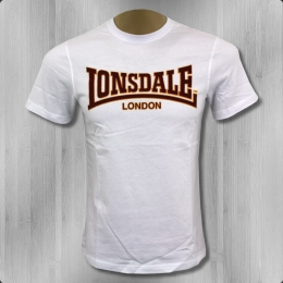 Lonsdale London Herren T-Shirt Classic Slim Fit white