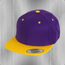 Yupoong Flexfit Classic Snapback 2-Tone Cap Schirmmütze purple gold