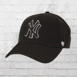 47 Brand Cap NY Yankees Wool All schwarz outline