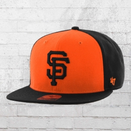 47 Brand Kappe San Francisco Giants MLB Snapback Cap schwarz orange