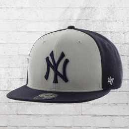 47 Brand MLB Snapback Cap New York Yankees Baseball Kappe dunkelblau grau