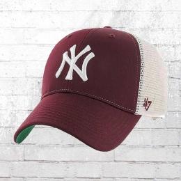 47 Brand MLB Trucker Cap NY Yankees weinrot