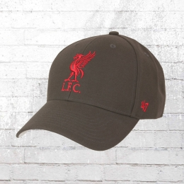 47 Brand Mütze Liverpool Cap LFC grau rot