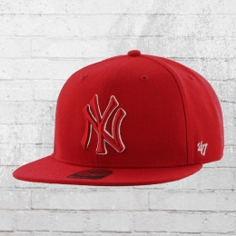 47 Brand Mütze New York Yankees MLB Snapback Cap rot