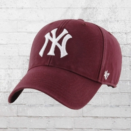 47 Brand NY Yankees Legend Denim Cap vintage weinrot