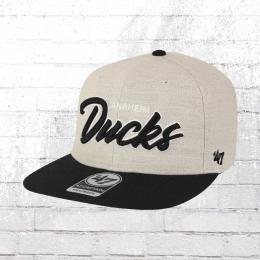 47 Brand Snapback Cap Anaheim Ducks Street Script grau