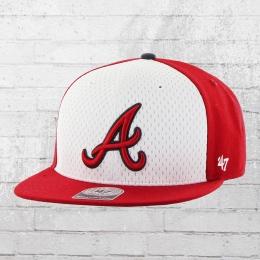 47 Brand Baseball Kappe MLB Atlanta Braves Cap Snapback rot weiss
