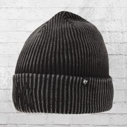 47 Brands Baumwoll Beanie NY Yankees Northwood Mütze schwarz