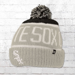 47 Brands Bommel Mütze Chicago White Sox Beanie grau