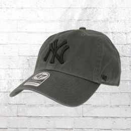 47 Brands Clean Up Baseball Cap NY Yankees grau
