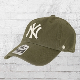 47 Brands Clean Up Baseball Cap NY Yankees oliv