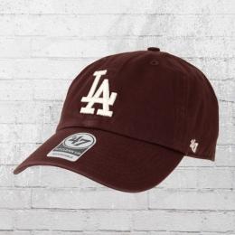 47 Brands Clean Up Cap Baseball League LA Dodgers weinrot