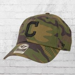 47 Brands Clean Up Cap Cleveland Indians MLB Kappe woodland