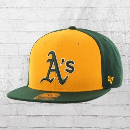 47 Brand MLB Snapback Cap Oakland Athletics Kappe dunkelgrün gelb