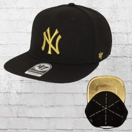 47 Brands Metalvise Captain New York Yankees Cap schwarz