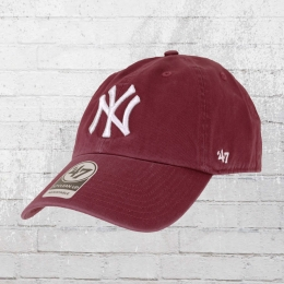 47 Brands MLB Clean Up Cap NY Yankees weinrot
