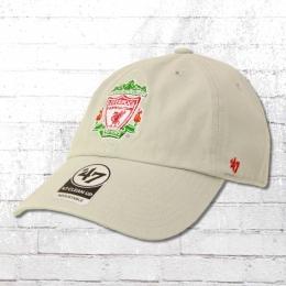 47 Brands Mütze Fussball Mütze Liverpool FC Clean Up Cap grau